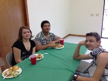 Youth at Fellowship Meal 3.15.15